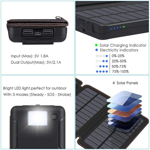 Solar Powered Battery Bank - Wireless Charger-Electronic-Weekly Top Deal