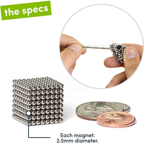 Speks Original Nickel Set of 512 (2.5mm) Magnetic Balls-Home Collection-Weekly Top Deal