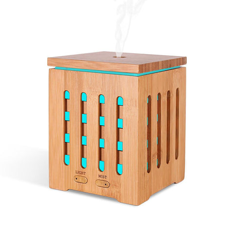Square Bamboo Aromatherapy Machine Ultrasonic Home Characteristic-Electronic-Weekly Top Deal