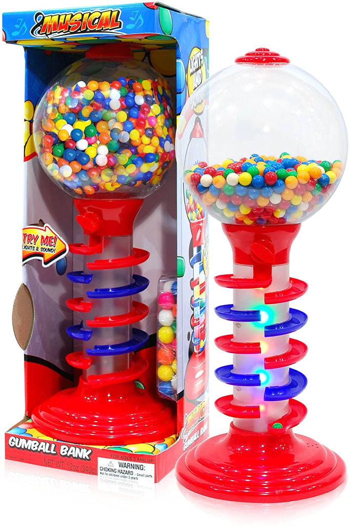 Sweet N Fun Light and Sound Spiral Gumball Bank with 340G Gumball-Kids, Toys & Baby-Weekly Top Deal