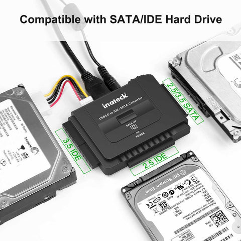 USB 3.0 to IDE/SATA External Hard Drive Reader Fit for Universal Adapter-Electronic-Weekly Top Deal