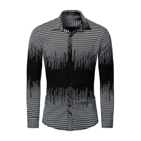 Vintage Shirt - Geometric Black-Men-Weekly Top Deal