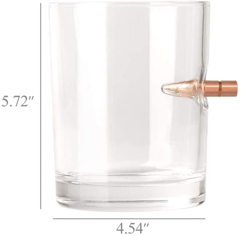 "Whiskey Glass Set ""BULLETPROOF"" 10 Oz Rock Glass (Set Of 2)-Gift & Accessories-Weekly Top Deal"