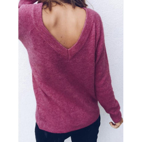 Women's Daily Basic T-shirt - Solid Colored Fashion / Loose Fit Deep V Neck-Women-Weekly Top Deal
