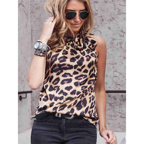 Women's Date Street Street chic T-shirt - Leopard Print Green-Women-Weekly Top Deal