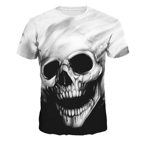 Women's Street chic / Exaggerated T-shirt - 3D / Cartoon / Skull Print Gray-Women-Weekly Top Deal