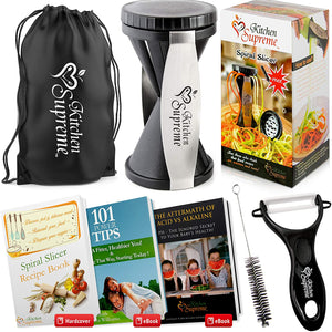 Zucchini Spaghetti Maker Complete Bundle - Best Spiraler Spiralizer with Peeler & Brush-Home Collection-Weekly Top Deal