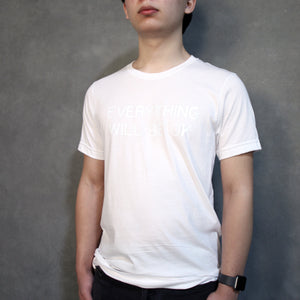 EWBOK WHITE ON WHITE TEE