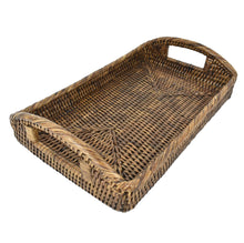 Load image into Gallery viewer, Rattan Tray with Curved Handles SML