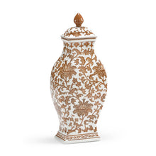Load image into Gallery viewer, Brown & White Rectangular Vase