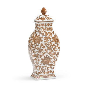 Brown & White Rectangular Vase