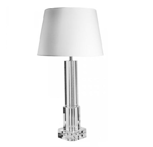 Solid Crystal Tall Lamp