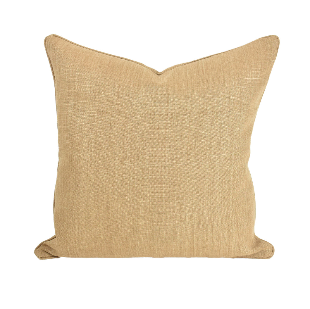 Toffee Linen Cushion