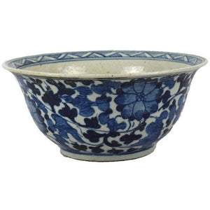 Dynasty Bowl Flower & Vine Motif