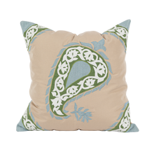 Load image into Gallery viewer, Outdoor Green Paisley Cushion