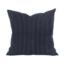 Load image into Gallery viewer, Outdoor Navy Stripe Cushion