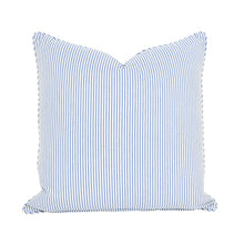 Load image into Gallery viewer, Blue Floral & Stripe Cushion