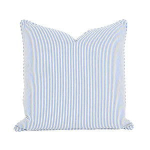 Blue Floral & Stripe Cushion