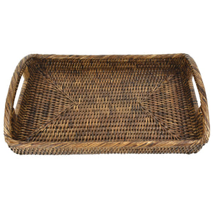 Rattan Tray with Curved Handles SML