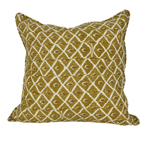 Saffron Diamond Cushion