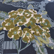 Load image into Gallery viewer, Bronze Candlestick Lamp w/ Blue Stripe Shade