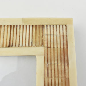 Indigo Triangles Bone Box LRG