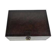 Load image into Gallery viewer, Dark Brown Leather Stirrup Box LRG