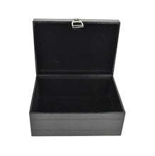 Load image into Gallery viewer, Black Leather Stirrup Box MED