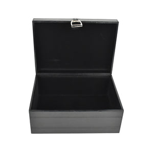 Black Leather Stirrup Box MED