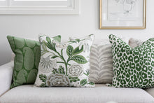 Load image into Gallery viewer, Green & Grey Floral Cushion