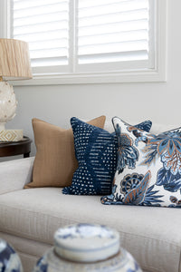 Indigo Large Diamond Cushion