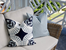 Load image into Gallery viewer, Outdoor Powder Blue Stripe Cushion