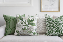 Load image into Gallery viewer, Green Paisley Cushion