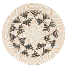 Load image into Gallery viewer, Black & White Woven Star Tray Large
