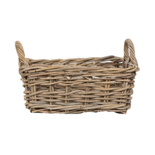 Load image into Gallery viewer, Small Square Rattan Basket