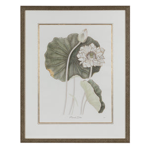 Green & Ivory Floral Lithograph 2