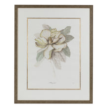 Load image into Gallery viewer, Green & Ivory Floral Lithograph 3