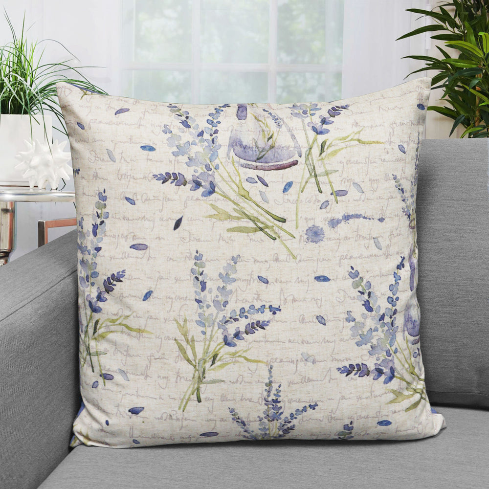 "Lavender Floral Print Throw Pillow | Lavender | 20"" x 20"""