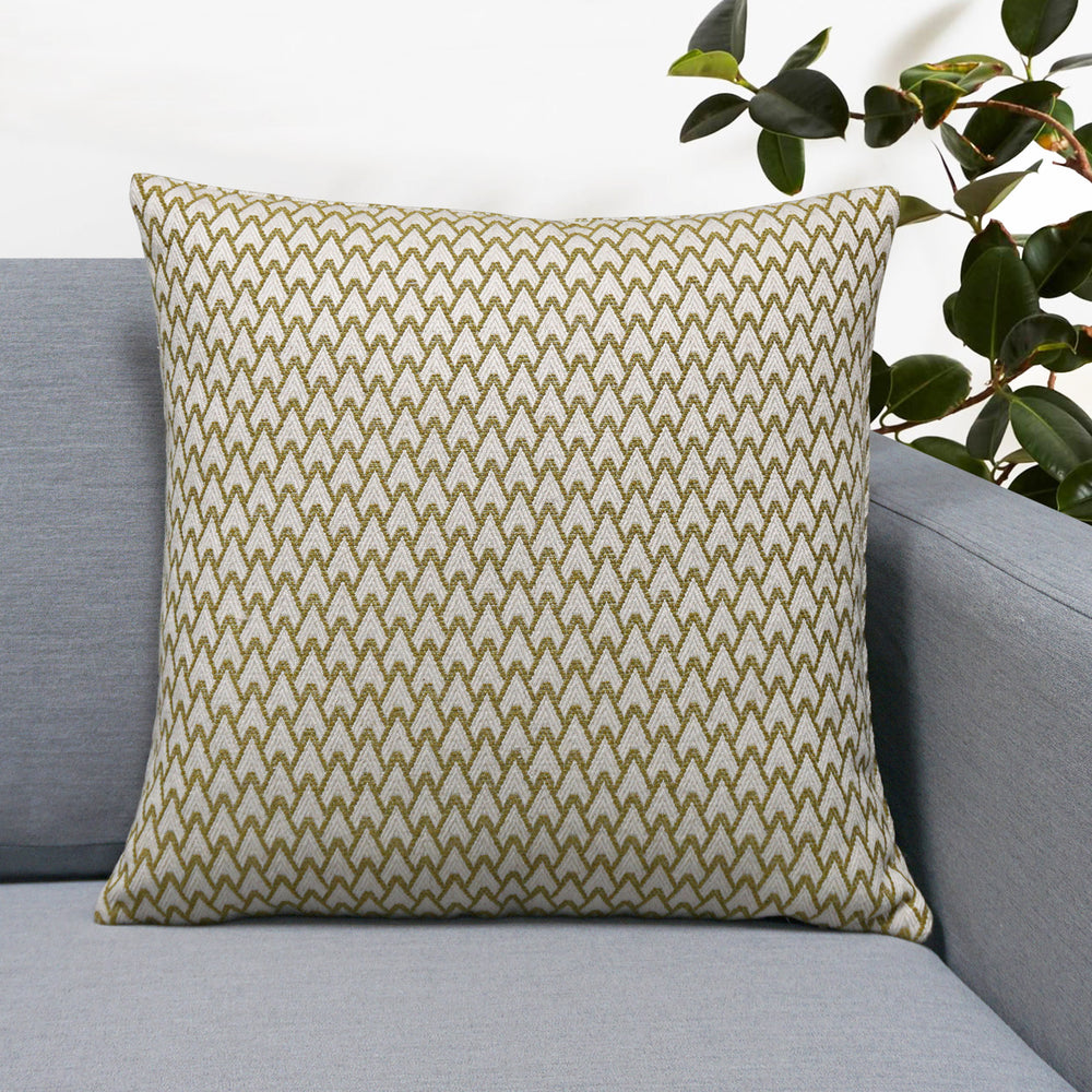 "Carmel Jacquard Throw Pillow | Apple | 18"" x 18"""