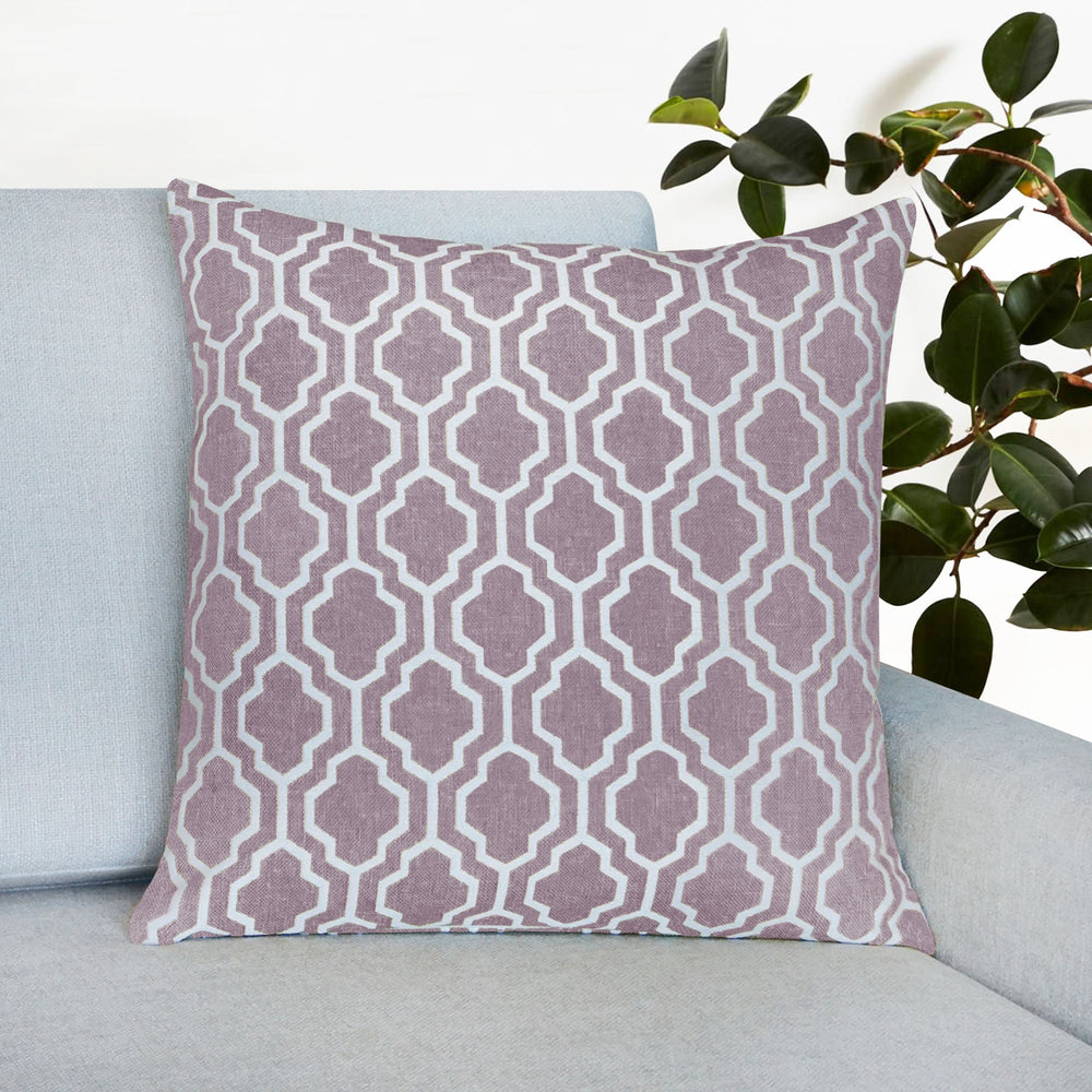 "Set of 2 Herald Geo Throw Pillow | Lavender | 20"" x 20"""