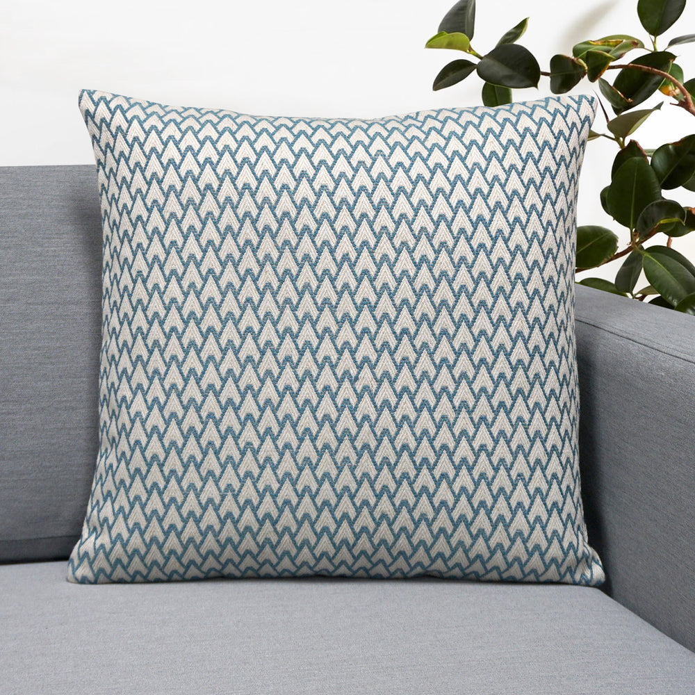 "Carmel Jacquard Throw Pillow | Sky | 18"" x 18"""