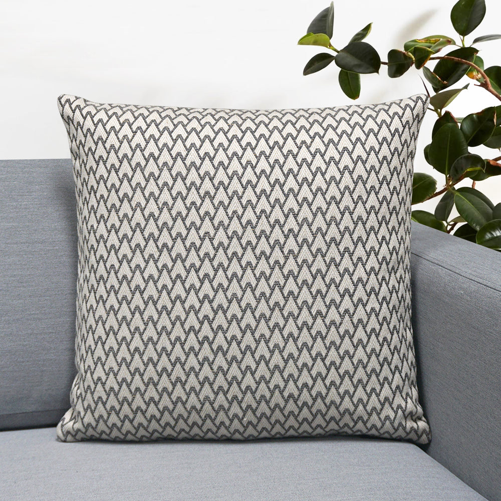 "Carmel Jacquard Throw Pillow | Gray | 18"" x 18"""