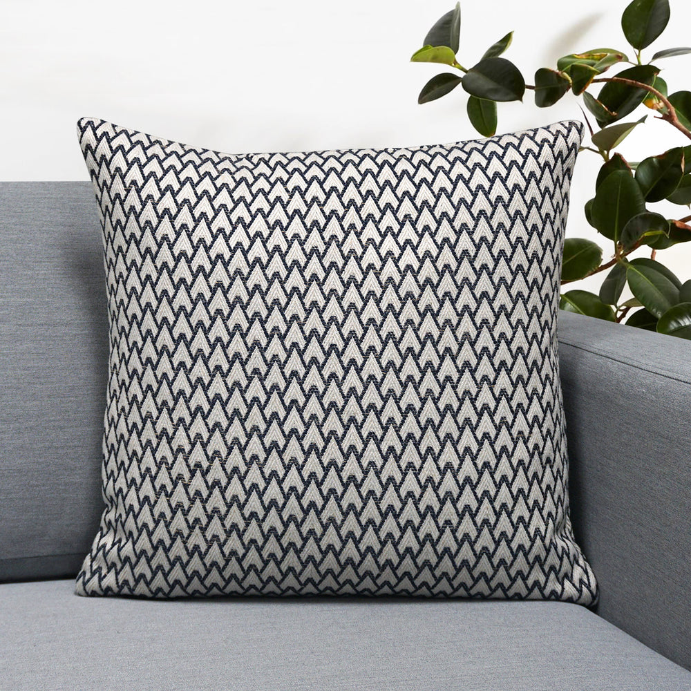 "Carmel Jacquard Throw Pillow | Navy | 18"" x 18"""
