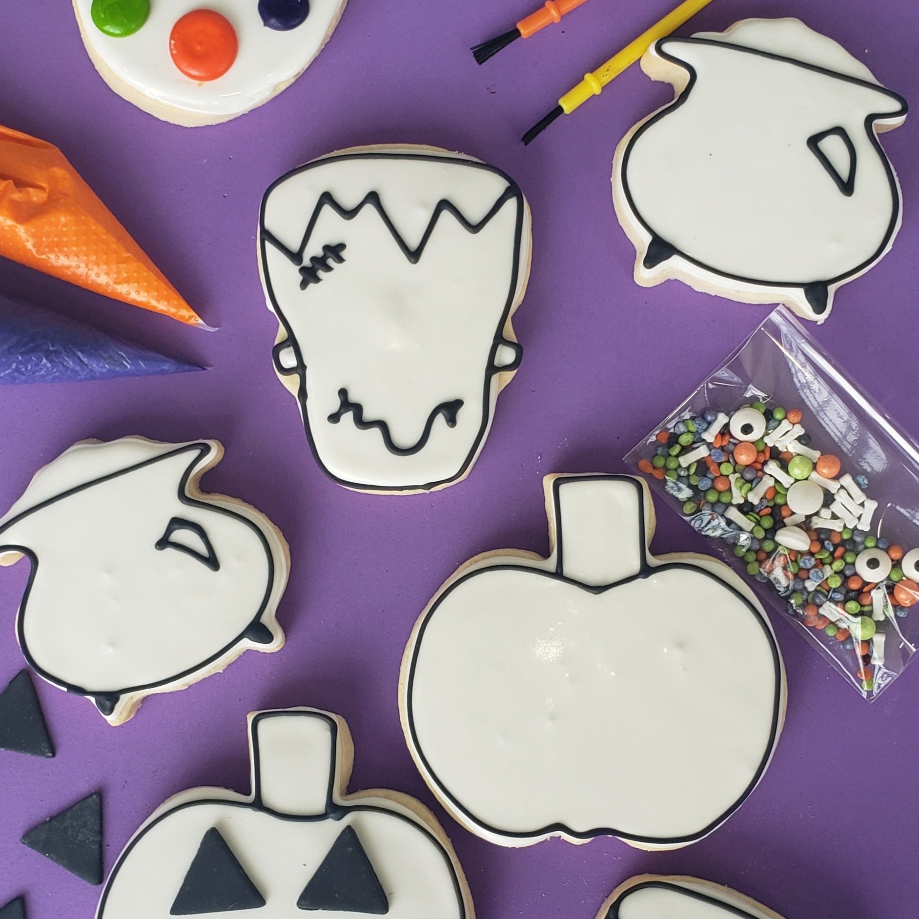 Boo! Color My Cookie Decorating Kit