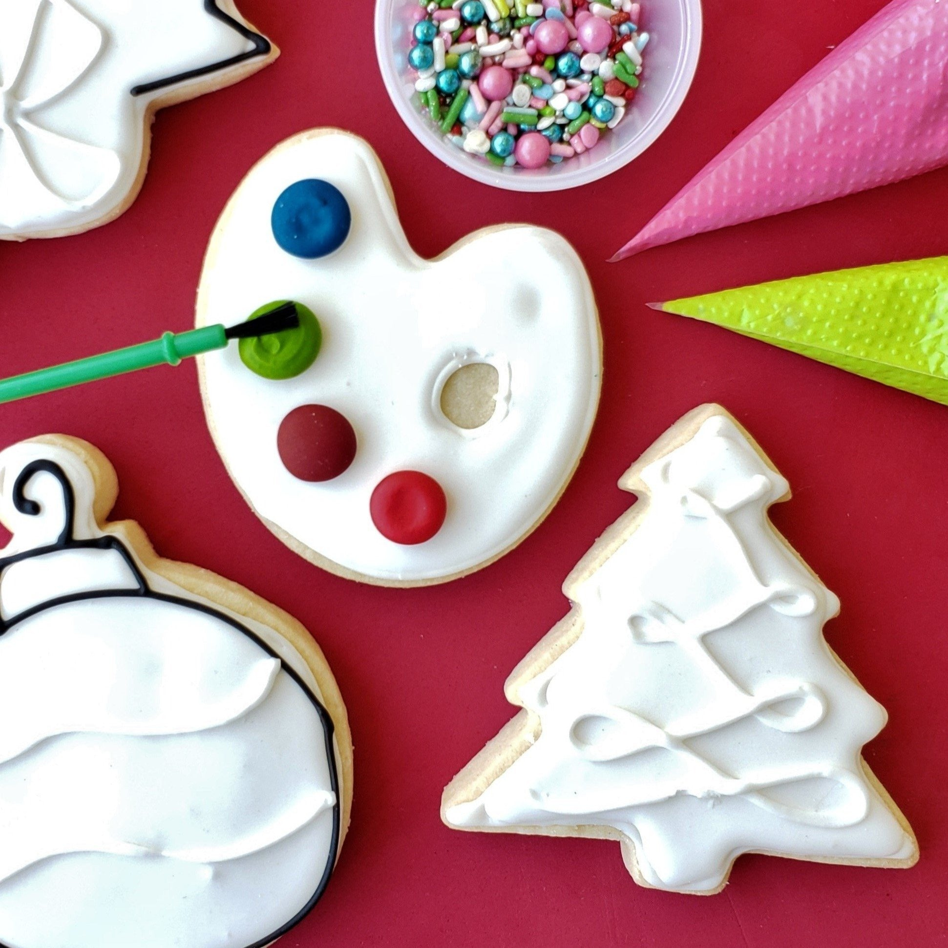 Christmas cookie decorating kit colormycookie.com