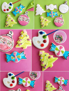 Christmas cookie decoration kit examples colormycookie.com