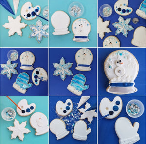 winter snow cookie decorating colormycookie.com