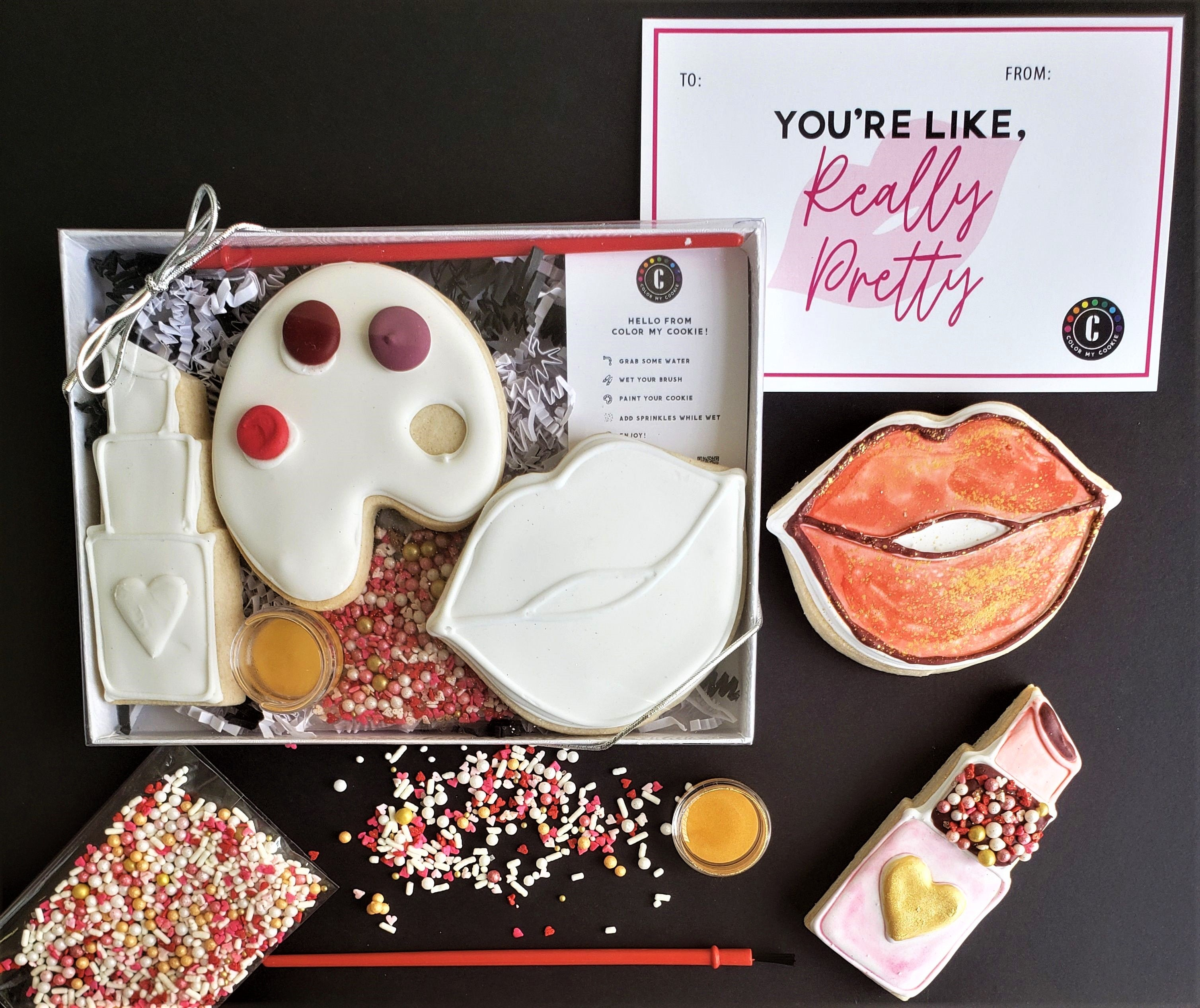 """You're Like, Really Pretty"" Mini Color My Cookie Decorating Kit"