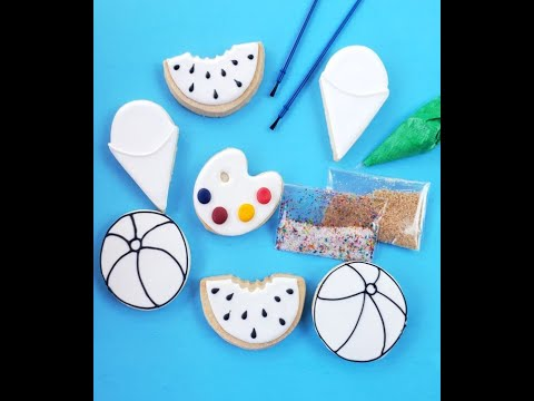 Fun in the Sun Color My Cookie Decorating Kit