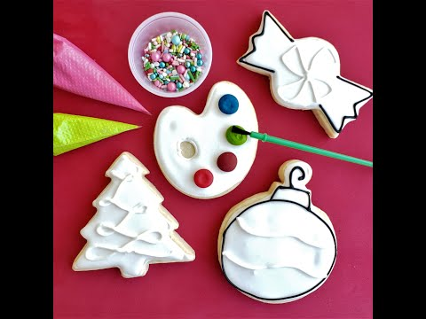 Christmas cookie decorating kit tutorial colormycookie.com